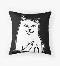 Middle Finger Cat T-shirt / Phone case / Mug and more Throw Pillow