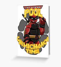 Teenage Mutant Ninja Pool! Greeting Card