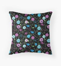 Pattern 11 - Wild blue and purple flowers  Throw Pillow