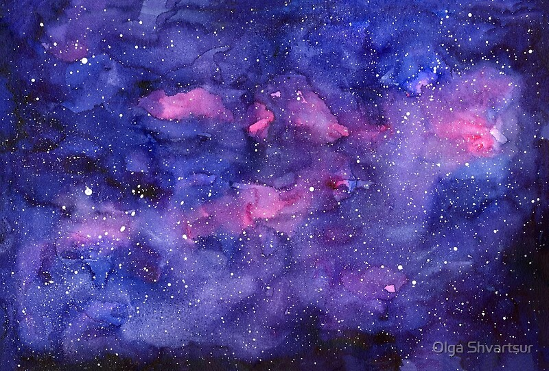 """Abstract Water Painting Colors Samsung Galaxy S5 Hd: """"Watercolor Galaxy Pink Purple Abstract Texture"""" By Olga"""