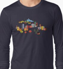 Illustrated Map Fall Color Roadtrip T-Shirt