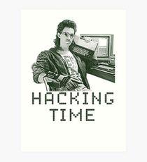 Hacking time Art Print