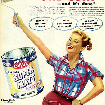 1950s Dulux Paint. Retro Advert  by taspaul
