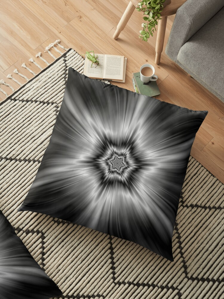 Black and White Star Burst by Objowl