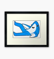 Saucy Superbowl Shark Framed Print
