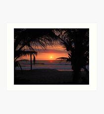 Tropical Sunset in Peru Art Print