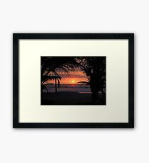 Tropical Sunset in Peru Framed Print