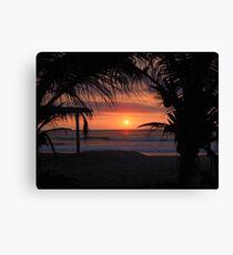 Tropical Sunset in Peru Canvas Print
