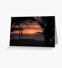 Tropical Sunset in Peru Greeting Card