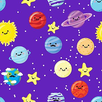 Cute Space Planets & Stars by lol-tshirts