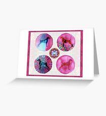 MANDALA WEIM DREAM PINK MULTI Greeting Card