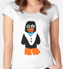 Petey the Penguin Women's Fitted Scoop T-Shirt