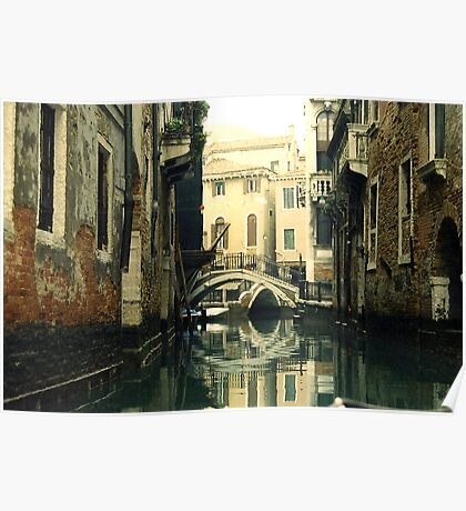 Quiet Water on Venice Canal Poster