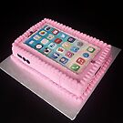 Pink tablet cake made by my granddaughter, Crissie by Shulie1