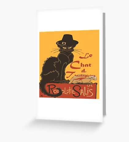 Le Chat De Thanksgiving Greeting Card