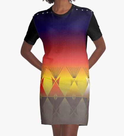 Night Tipi Graphic T-Shirt Dress