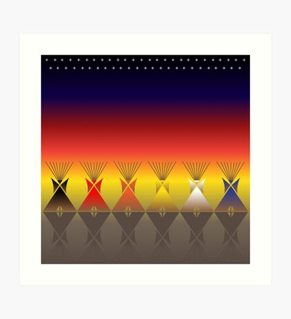 Night Tipi Art Print