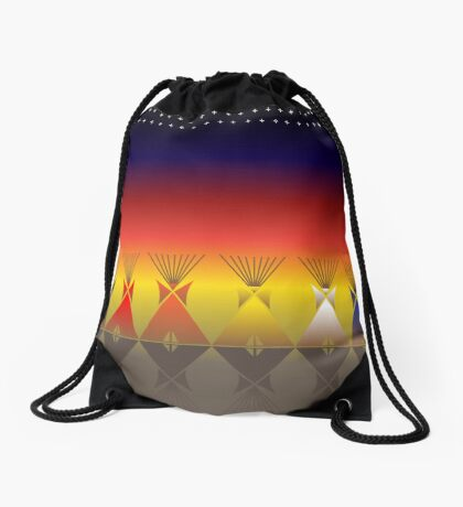 Night Tipi Drawstring Bag