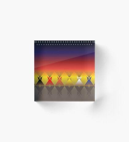 Night Tipi Acrylic Block