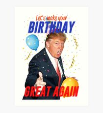 Geburtstags-Trumpf Kunstdruck