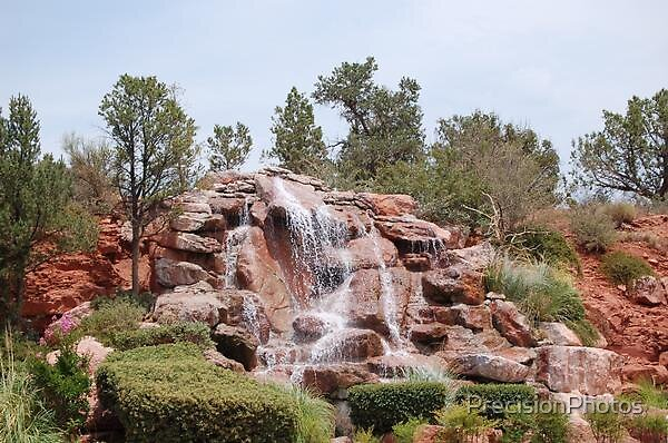 Waterfall in Sedona by PrecisionPhotos