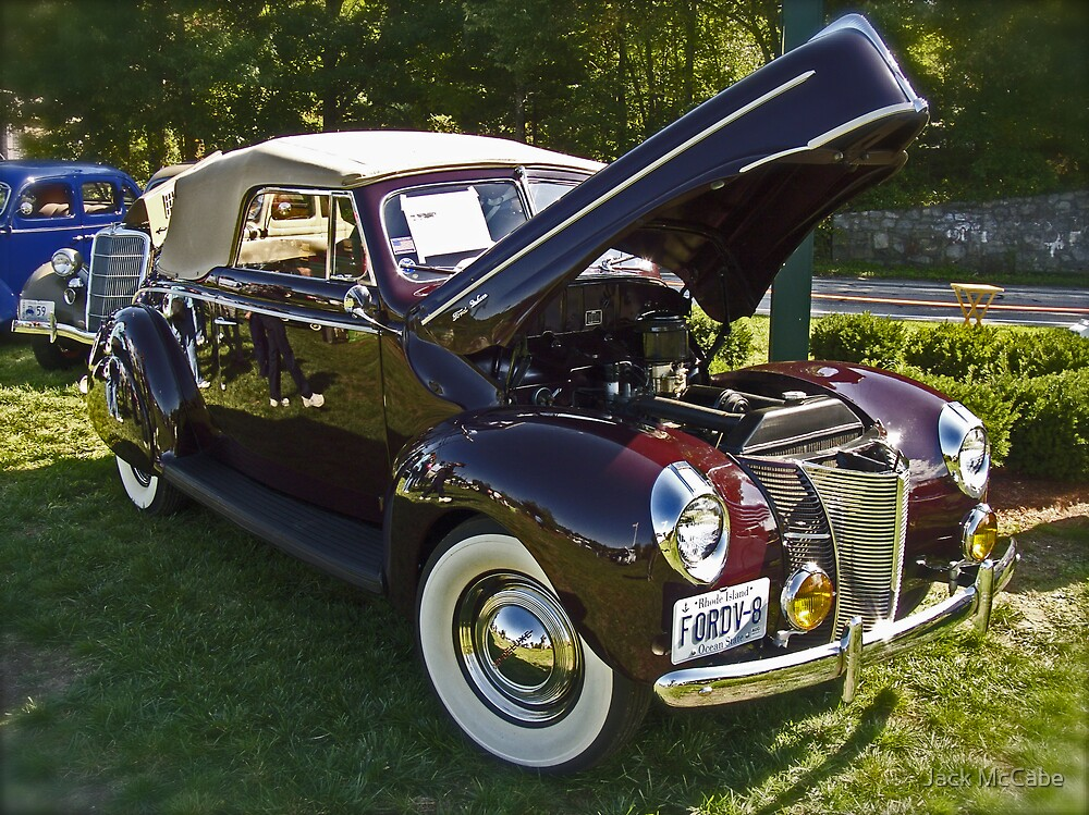 1940 Ford Convertable Classic with Rhode Island registration plates. by Jack McCabe
