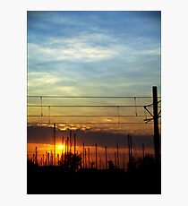 Sunset at the pier Photographic Print