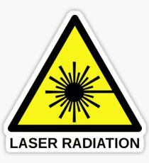 Laser radiation Warning Sticker