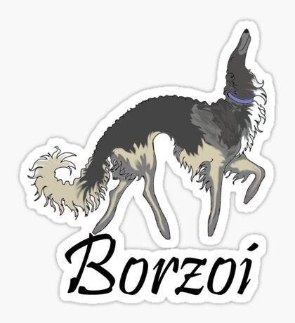 Chinchilla Borzoi Sticker