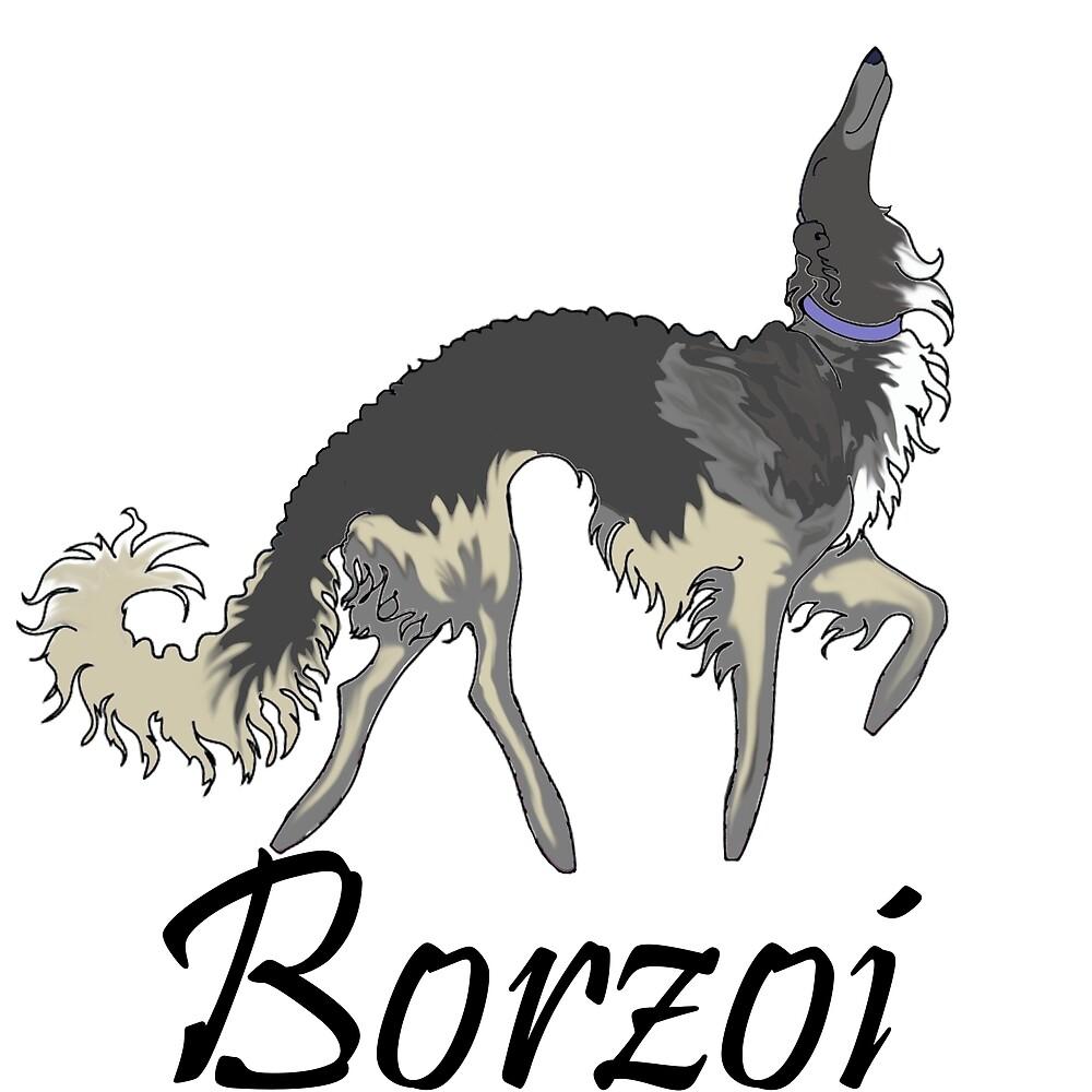 Chinchilla Borzoi by Happy Dog Swag