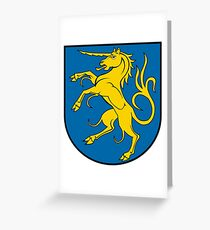 Giengen Coat of Arms, Germany Greeting Card