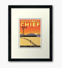 Vintage poster - Southwest Chief Framed Print