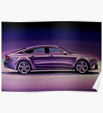 Audi RS7 2013 Painting Poster