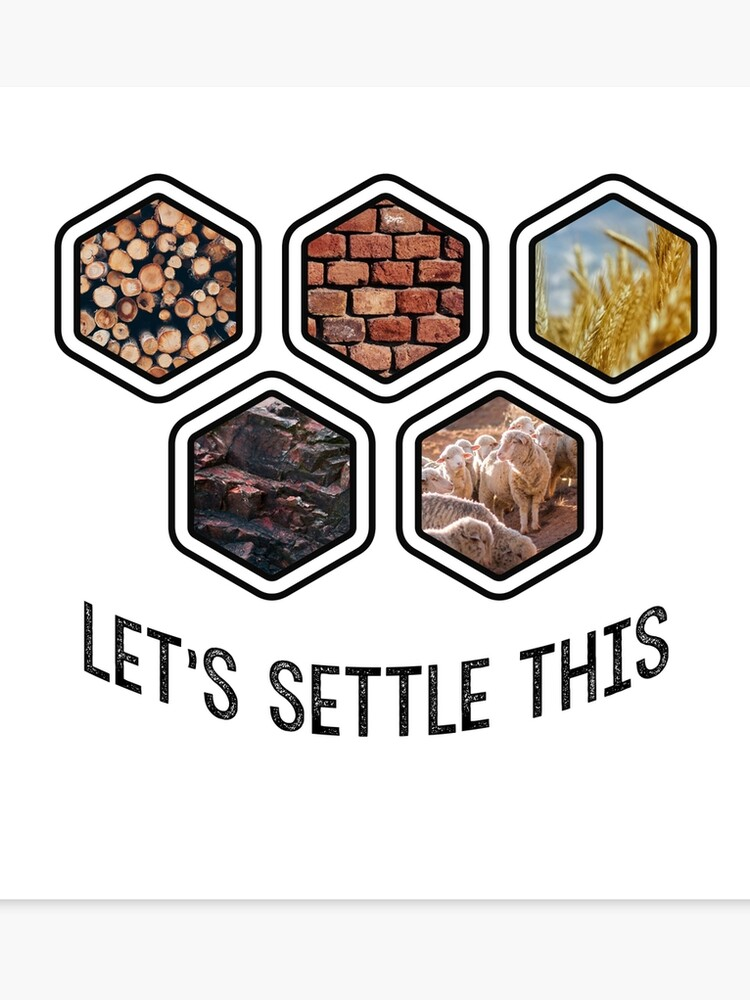 graphic relating to Settlers of Catan Printable known as Permits SETTLE THIS Settlers of Catan Canvas Print