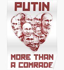 Póster Putin más que un camarada