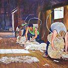 Shearing at Tarcombe by Lynda Robinson