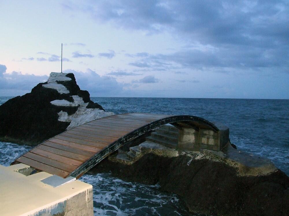Sea bridge in Madeira by John Quinn