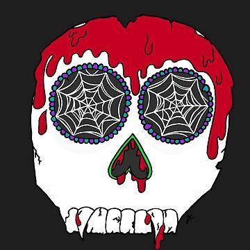 vampire sugar skull by jennieclayton