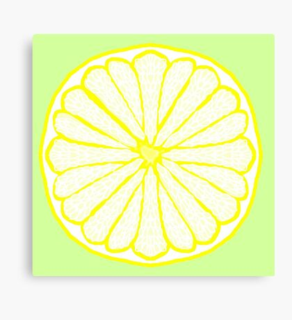 Lovely Lemon on Lime Canvas Print