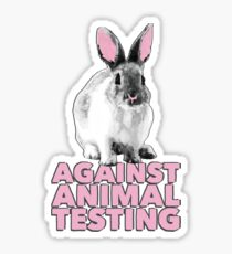 Against Animal Testing Sticker