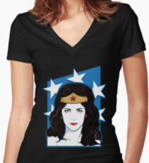 Princess Warrior from the Amazon Women's Fitted V-Neck T-Shirt