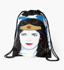 Princess Warrior from the Amazon Drawstring Bag