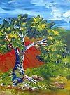Paletteknife tree by Elizabeth Kendall