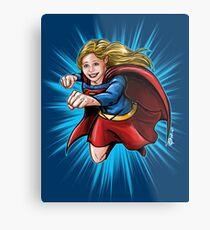 A Super Heroine Metal Print