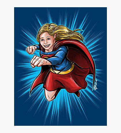 A Super Heroine Photographic Print