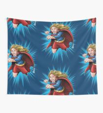 A Super Heroine Wall Tapestry