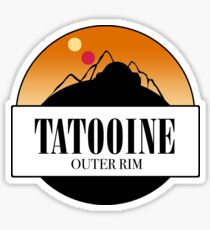 tatooine circle graphic Sticker