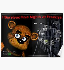 Five Nights at Freddy's Survivors T-Shirt Poster