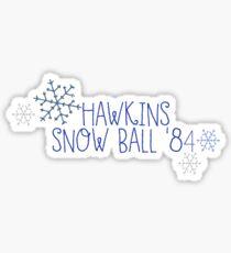 Hawkins Snow Ball '84 Sticker
