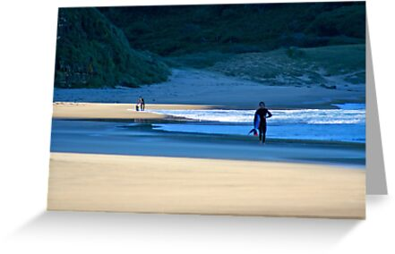 Surfers on Garie Beach by Mark Richards